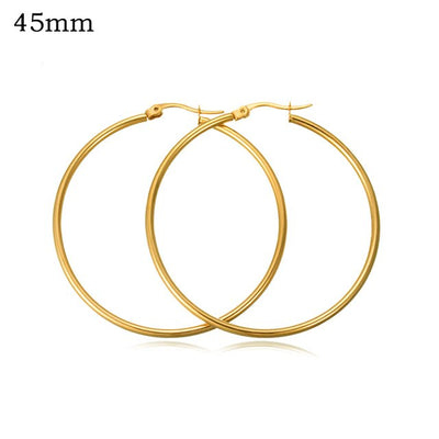 Classic Hoop Earrings 45mm Gold - Earrings | MegaMallExpress.com