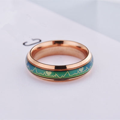 Promise Rings 12 / 6mm Rose Gold - Wedding & Engagement | MegaMallExpress.com