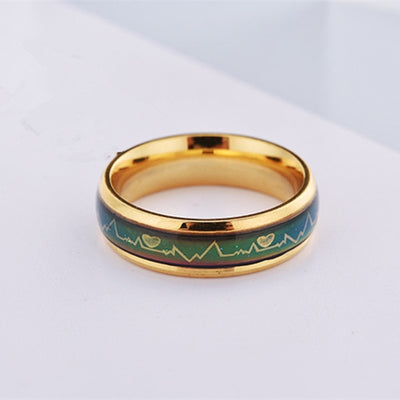 Promise Rings 12 / 6mm Gold - Wedding & Engagement | MegaMallExpress.com