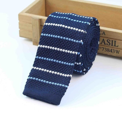 Knitted Ties for Men Blue 11 - Men Ties & Accessories | MegaMallExpress.com