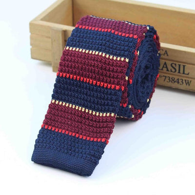 Knitted Ties for Men Red 12 - Men Ties & Accessories | MegaMallExpress.com