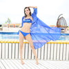 Swimsuit Chiffon Cover Up Blue / XXL - Women Swimwear & Cover Ups | MegaMallExpress.com