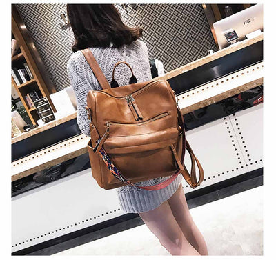 Women's Leather School Backpacks  - Everyday Backpacks | MegaMallExpress.com