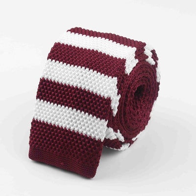 Knitted Ties for Men Red 24 - Men Ties & Accessories | MegaMallExpress.com