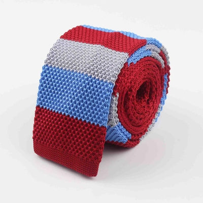 Knitted Ties for Men Red 25 - Men Ties & Accessories | MegaMallExpress.com