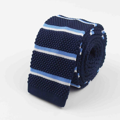 Knitted Ties for Men Blue 29 - Men Ties & Accessories | MegaMallExpress.com