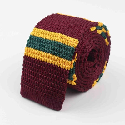 Knitted Ties for Men Red 31 - Men Ties & Accessories | MegaMallExpress.com