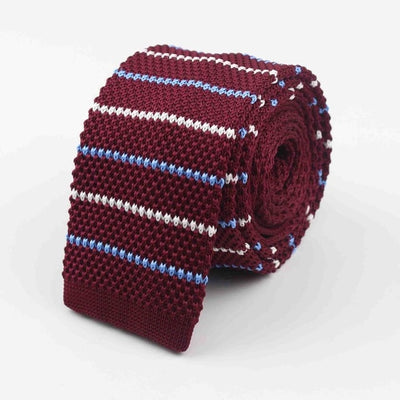 Knitted Ties for Men Wine Red 34 - Men Ties & Accessories | MegaMallExpress.com