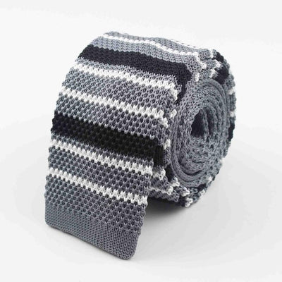 Knitted Ties for Men Gray 35 - Men Ties & Accessories | MegaMallExpress.com