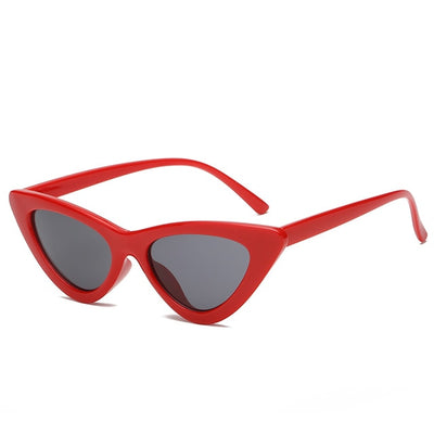 Women Fashion Cat Eye Sunglasses Red frame Black - Women Sunglasses | MegaMallExpress.com