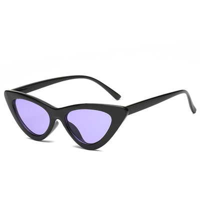 Women Fashion Cat Eye Sunglasses Black frame Purple - Women Sunglasses | MegaMallExpress.com
