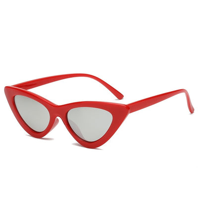 Women Fashion Cat Eye Sunglasses Red frame Silver - Women Sunglasses | MegaMallExpress.com
