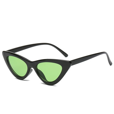 Women Fashion Cat Eye Sunglasses Black frame Green - Women Sunglasses | MegaMallExpress.com