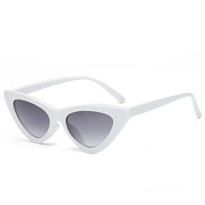 Women Fashion Cat Eye Sunglasses White frame Gray - Women Sunglasses | MegaMallExpress.com