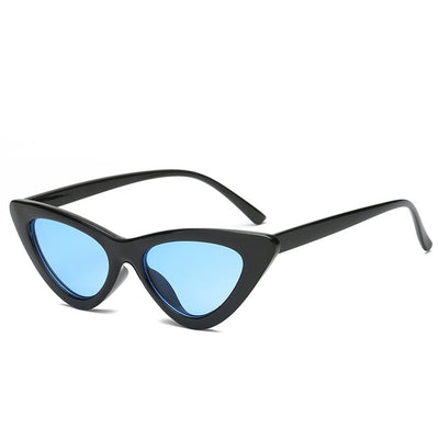 Women Fashion Cat Eye Sunglasses Black frame Blue - Women Sunglasses | MegaMallExpress.com