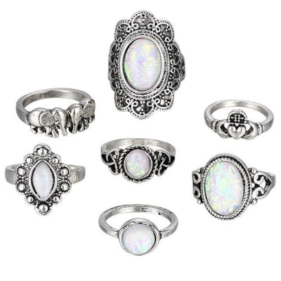 Vintage Stone Ring Set RJCS566 - Casual Rings | MegaMallExpress.com