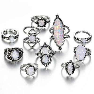 Vintage Stone Ring Set RJCS557 - Casual Rings | MegaMallExpress.com