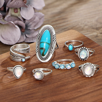 Vintage Opal Ring Set  - Casual Rings | MegaMallExpress.com