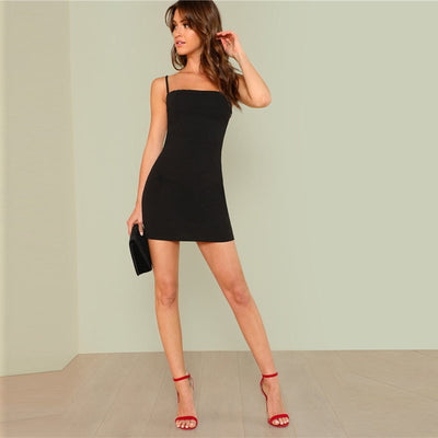 Sexy Spaghetti Strap Backless Club Dress  - Women Dresses | MegaMallExpress.com
