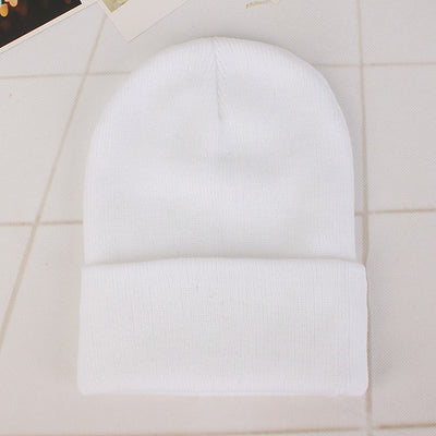 Women Beanie Caps Solid Colors White Cap - Women Socks & More | MegaMallExpress.com