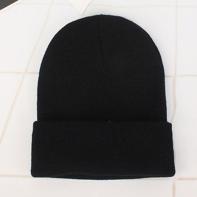 Women Beanie Caps Solid Colors Black Cap - Women Socks & More | MegaMallExpress.com