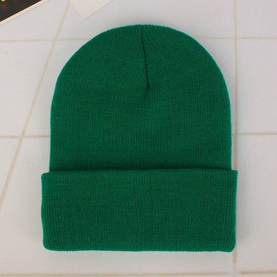Women Beanie Caps Solid Colors Green Cap - Women Socks & More | MegaMallExpress.com