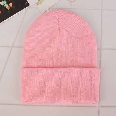 Women Beanie Caps Solid Colors Pink Cap - Women Socks & More | MegaMallExpress.com