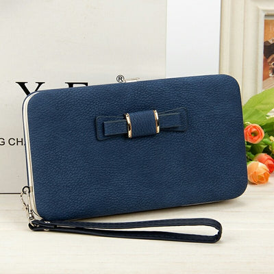 Women's Coin and Cards Purse Navy Blue / Small - Women Wallets | MegaMallExpress.com