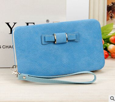 Women's Coin and Cards Purse Light blue / Small - Women Wallets | MegaMallExpress.com