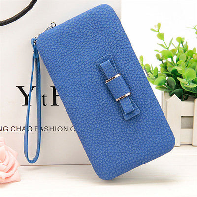 Women's Coin and Cards Purse Blue / Small - Women Wallets | MegaMallExpress.com