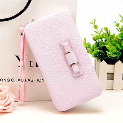 Women's Coin and Cards Purse Light Pink / Small - Women Wallets | MegaMallExpress.com