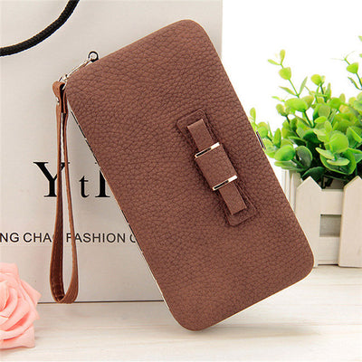Women's Coin and Cards Purse Brown / Small - Women Wallets | MegaMallExpress.com