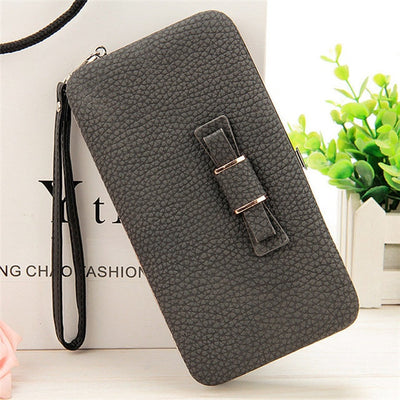 Women's Coin and Cards Purse Black Charcoal / Small - Women Wallets | MegaMallExpress.com