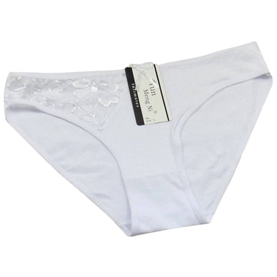 Women Sexy Cotton Panties White / XL - Women Intimates | MegaMallExpress.com