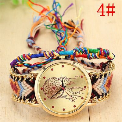 Women Handmade Braided Wrist Watch 4 - Women Watches | MegaMallExpress.com