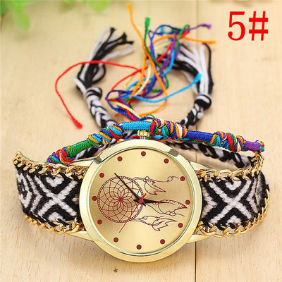 Women Handmade Braided Wrist Watch 5 - Women Watches | MegaMallExpress.com