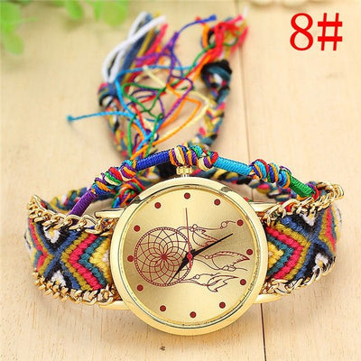 Women Handmade Braided Wrist Watch 8 - Women Watches | MegaMallExpress.com