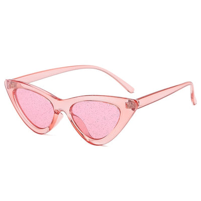 Women Fashion Cat Eye Sunglasses Pink Glitter - Women Sunglasses | MegaMallExpress.com