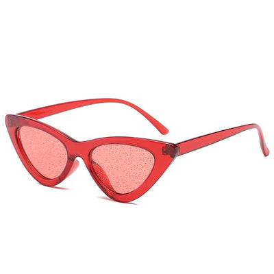 Women Fashion Cat Eye Sunglasses Red Glitter - Women Sunglasses | MegaMallExpress.com