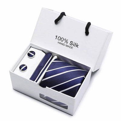 Matching Tie and Pocket Square Set Navy SB04 - Men Ties & Accessories | MegaMallExpress.com