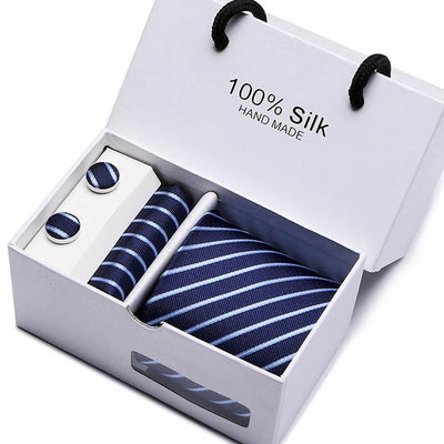Matching Tie and Pocket Square Set Blue SB20 - Men Ties & Accessories | MegaMallExpress.com
