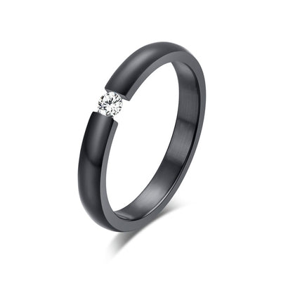 Women Engagement Ring 10 / black color - Wedding & Engagement | MegaMallExpress.com