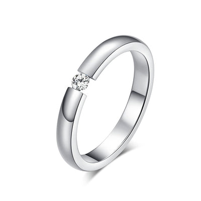 Women Engagement Ring 10 / silver color - Wedding & Engagement | MegaMallExpress.com