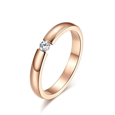 Women Engagement Ring 10 / rose gold color - Wedding & Engagement | MegaMallExpress.com
