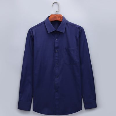 Men's Business Casual Long Sleeve Plus Size Shirt  - Men Shirts | MegaMallExpress.com