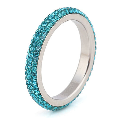 Clear Crystal Wedding Ring 10 / Sky Blue - Wedding & Engagement | MegaMallExpress.com