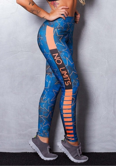 Women Pattern Leggings Sky Blue / XS - Women Bottoms | MegaMallExpress.com