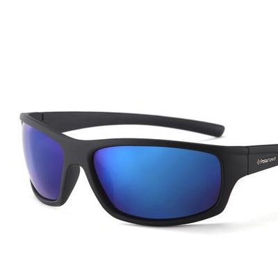Sports Men's Polarized Sunglasses C07 Black Blue - Men Sunglasses | MegaMallExpress.com