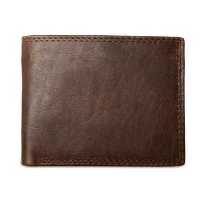 Men Vintage Leather Wallet with Coin Pocket Dark Brown wallet - Men Wallets | MegaMallExpress.com