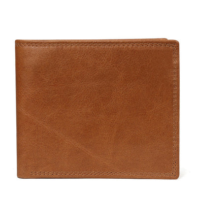 Men Vintage Leather Wallet with Coin Pocket Brown Wallet - Men Wallets | MegaMallExpress.com